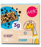 Barre de collation Welo School Ready Chocolate Chip