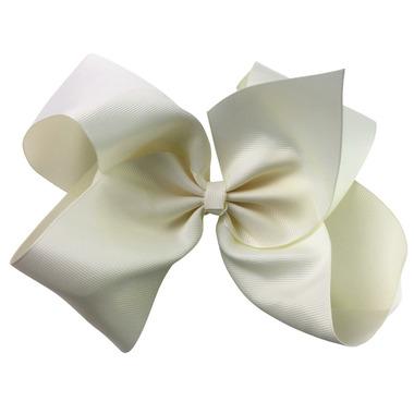 "Baby Wisp Pinch Clip Mariah 8\"" Bow Antique White"