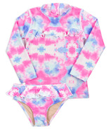 Shade Critters Rashguard Set Cotton Candy Tie Dye