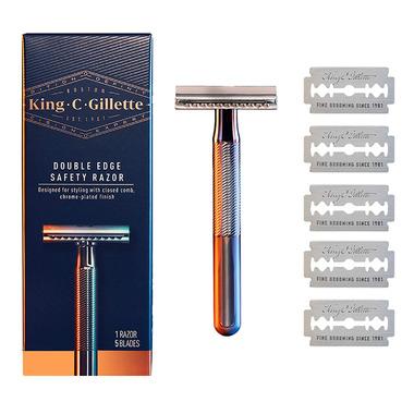 Gillette Men\'s Double Edge Safety Razor with 5 Double Edge Refill Blades