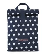 JanSport RollTop Lunch Bag Dark Denim Polka-Dot