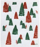 Ten & Co. Swedish Sponge Cloth Woods Red & Green