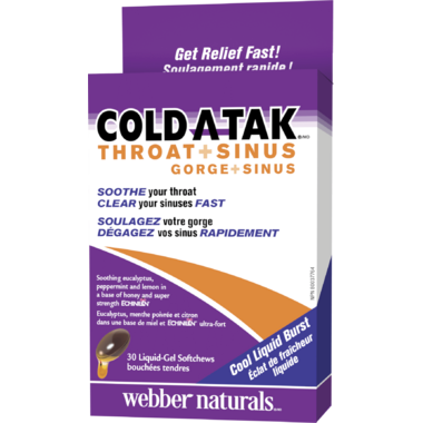 Webber Naturals Cold A-Tak Throat + Sinus Echinilin
