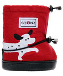 Stonz Red Dalmation Toddler Booties