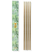 W&P 10 Inch Metal Straws Gold