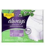 Always Discreet Underwear Large Moderate
