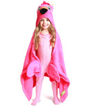 ZOOCCHINI Toddler Hooded Towel Franny The Flamingo