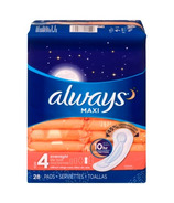 Always Maxi Overnight Pads Unscented Size 4