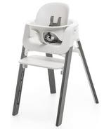 Stokke Steps High Chair Bundle Stormy Grey Oak & White Chair
