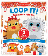 Melissa & Doug Loop It! Beginner Craft Kit - Farm Puppets
