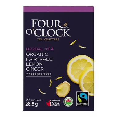 Four O\'Clock Lemon Ginger Herbal Tea