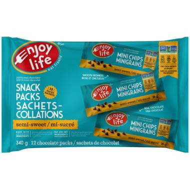Enjoy Life Semi Sweet Mini Chips Snack Packs