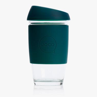 JOCO Reusable Glass Cup Deep Teal