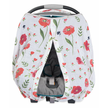 Little Unicorn Cotton Muslin Car Seat Canopy Summer Poppy