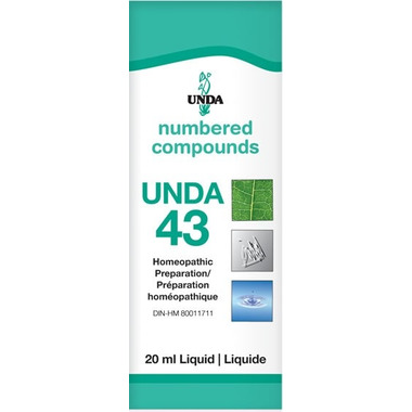 UNDA Numbered Compounds UNDA 43 Homeopathic Preparation