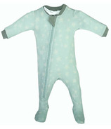 ZippyJamz Organic Cotton Footed Sleeper Slumber Star Teal