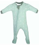 ZippyJamz Organic Cotton Footed Sleeper Slumber Star Teal