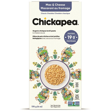 Chickapea Pasta Organic Elbows Lentil Mac & Cheese Classic Cheddar
