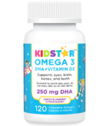 KidStar Nutrients OMEGA 3 DHA + Vitamin D3 Chewables