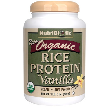 Nutribiotic Raw Organic Rice Protein Vanilla