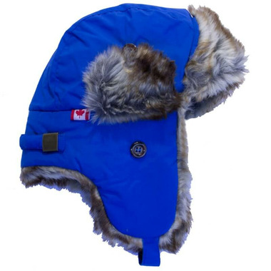 Calikids Water Repellant Nylon Shell & Faux Fur Hat