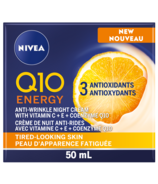 NIVEA Q10 Energy Anti-Wrinkle Night Cream For Tired-Looking Skin