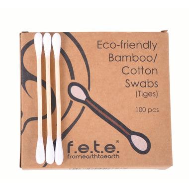 f.e.t.e. Eco-friendly Bamboo Cotton Swabs
