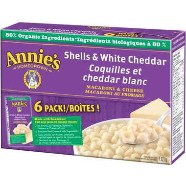 Annie\'s Homegrown Organic Shells & White Cheddar Macaroni & Cheese