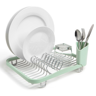 Umbra Sinkin Dish Rack Mint & Nickle