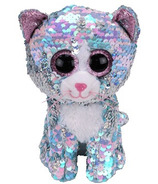 Ty Flippables Whimsy the Sequin Blue Cat Regular