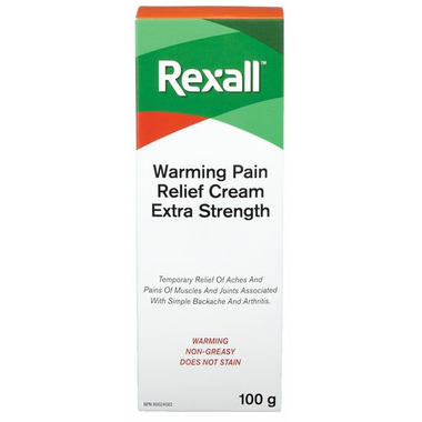 Rexall Extra Strength Warming Pain Relief Cream