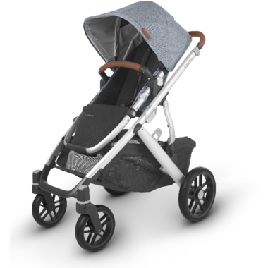 UPPAbaby VISTA V2 Stroller Gregory Blue Melange Silver Saddle Leather