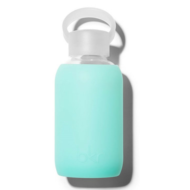 bkr Holiday Glass Water Bottle Sheer Vacation Blue