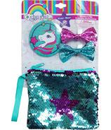 Porte-monnaie à sequins avec arcs & Miroir licorne