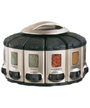 KitchenArt Black Select-A-Spice Auto-Measure Carousel