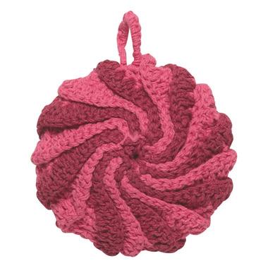 Now Designs Dishcloth Tawashi Scrubbers Set Spiral Raspberry