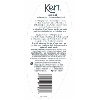 Keri Moisturizing Body Lotion Skin Therapy Softly Scented