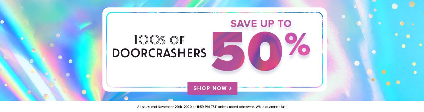 Save up to 50% on Doorcrashers