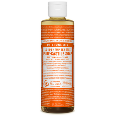 Dr. Bronner\'s Organic Pure Castile Liquid Soap Tea Tree 8 Oz
