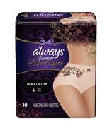 Always Discreet Boutique Incontinence Underwear Maximum Protection Peach