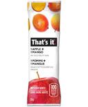 That's it. 1 Apple + 1 Mango Fruit Bar