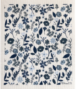 Ten & Co. Swedish Sponge Cloth Floral Navy