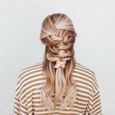 Kitsch Metallic Scrunchies Blush And Mauve