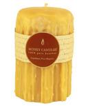 Honey Candles Heritage Drip Pillar Candle Natural Beeswax