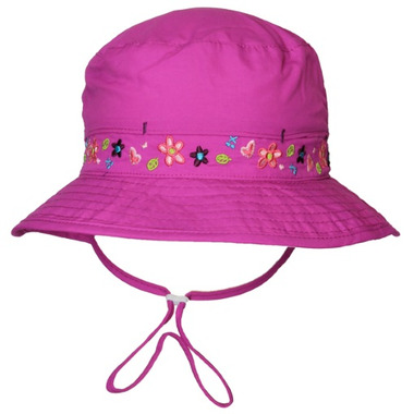 caa6ed24e24 Buy Calikids Mesh Lined Bucket Hat With Floral Details Vivid Orchid at  Well.ca