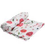 Little Unicorn Cotton Muslin Swaddle Blanket Summer Poppy