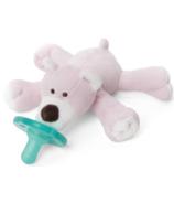 WubbaNub Pink Bear Plush Pacifier