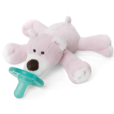 WubbaNub Pink Bear Plush Pacifier