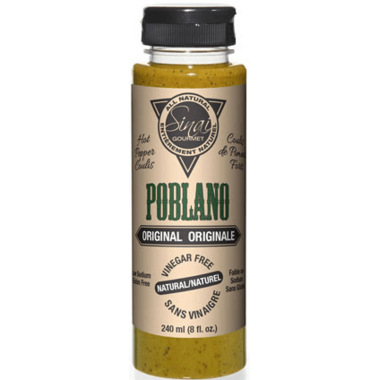 Sinai Gourmet Poblano Original Hot Pepper Coulis