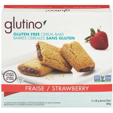 Glutino Gluten Free Breakfast Bars Strawberry